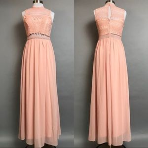 8f1f22223cdb soieblu Dresses | Crochet Bodice Maxi Dress Gown Bridesmaid | Poshmark